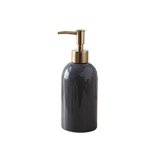Dispensador de Jabón Dispensador de jabón de estilo simple Botella de loción cerámica recargable para jabón líquido Dispensadores a mano Japones Lociones de champú (verde, blanco, negro, gris) Dispens