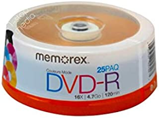 Memorex DVD Recordable Media - DVD-R - 16x - 4.70 GB - 25 Pack Spindle 05706