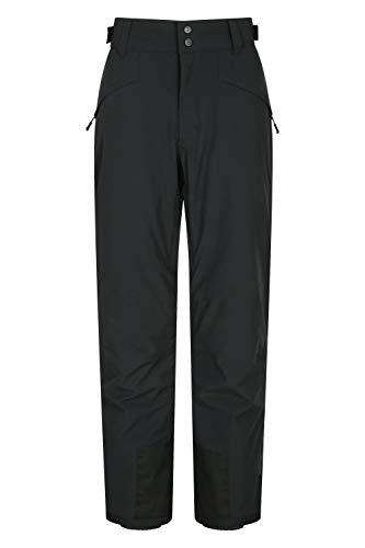 Mountain Warehouse Pantalones del esquí de Mens del Estiramiento de la Manera de la órbita 4 - Pantalones Impermeables, Pantalones Grabados de Snowboard de Las Costuras, Invierno Carbón XXS