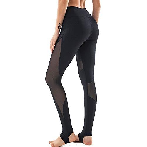 Strumpfhosen Leggings Sportswear für Damen, Lady Frauen Mesh-Patchwork-Gamaschen-dünne Yoga Steghose Sexy Scrunch Kolben-Aufzug mit hohen Taille Bauch-Steuerhose Gym Tights Sports Running Workout Hose
