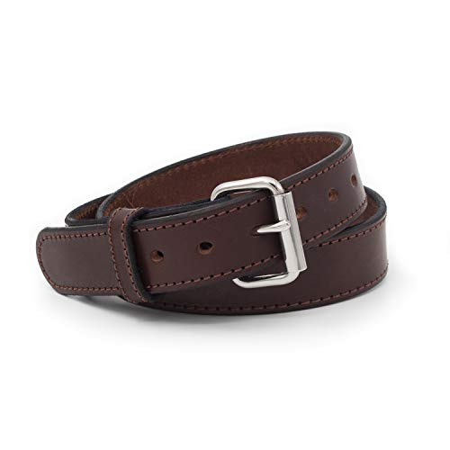 Relentless Tactical The Ultimate Concealed Carry CCW Leather Gun Belt - 14 Ounce 1 1/2 Inch Premium Full Grain Leather Belt - Handmade in The USA! Brown Size 40