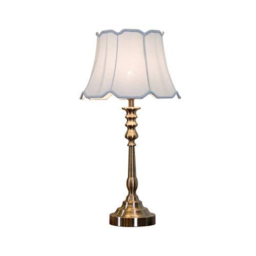 Lamparilla de noche La moderna lámpara de mesa de níquel cepillado de 27 pulgadas, diseño de candelabro y pantalla de tela, es la hermosa iluminación de cualquier habitación Lámpara Mesilla