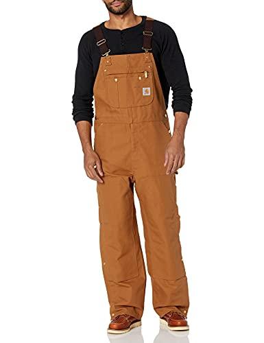 Carhartt Men s Zip To Thigh Bib Overall Unlined,Carhartt Brown,36 x 32