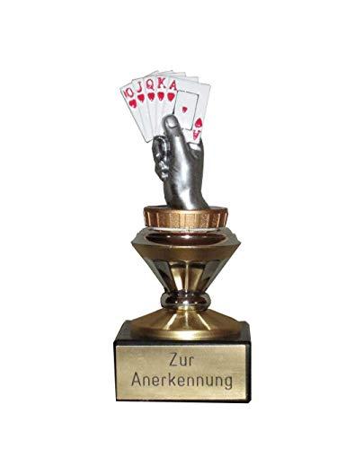 RaRu Poker/Skat-Pokal mit Ihrem Wunschtext graviert (Biso)