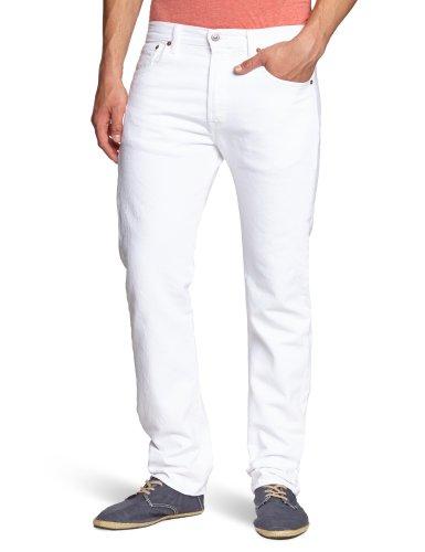 Levi's Herren 501 Original Fit Jeans, White (Optic White 0651), 40W / 34L