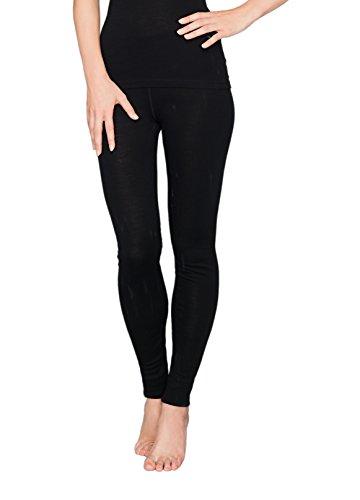 UTENOS Weiche Leggings für Damen aus 100% Merinowolle (XL, Schwarz)