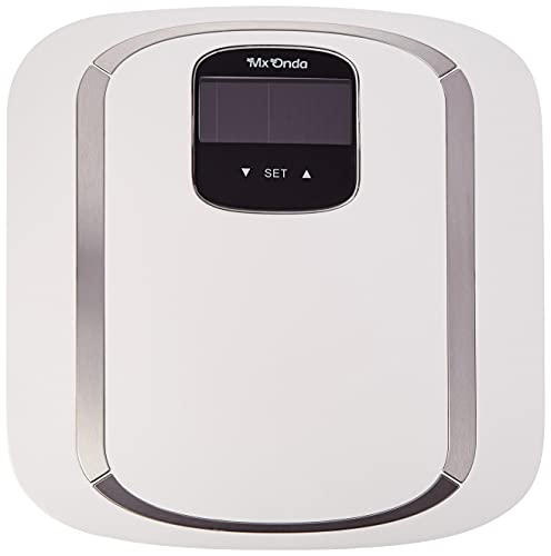 Mx Onda MX-PB2442 - Báscula de baño electrónica para adultos, con medición del porcentaje de grasa corporal, agua, masa muscular y masa ósea