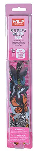 """Wild Republic Butterfly Nature Tube, Insect Figurines Tube, Nature Toys, Kids Gifts, 12-piece,Multicolor,1.5"""" to 3"""""""