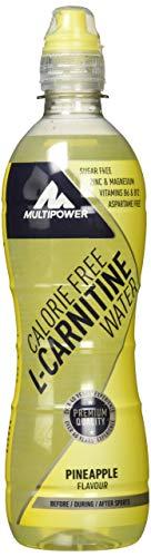 Multipower L-Carnitine Energy Getränk, Water Pineaple (12 x 500 ml)