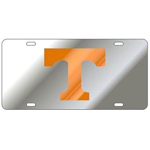 Craftique Tennessee Volunteers Mirror Laser Cut License Plate - Orange T
