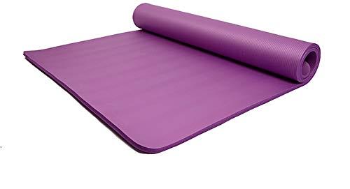 GTTBS Yogamatte 20 Mm Dicke NBR-Fitnessmatte 100CM Verbreitertes Pilates-Kissen Picknickmatte Umweltschutz,Lila,200 * 100 * 2cm