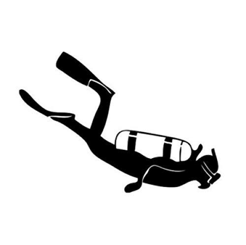 3 Piezas Etiqueta del Coche 15.2 * 11.4 cm Calcomanías de Buceo para buceadores Pegatinas de Vinilo Negro