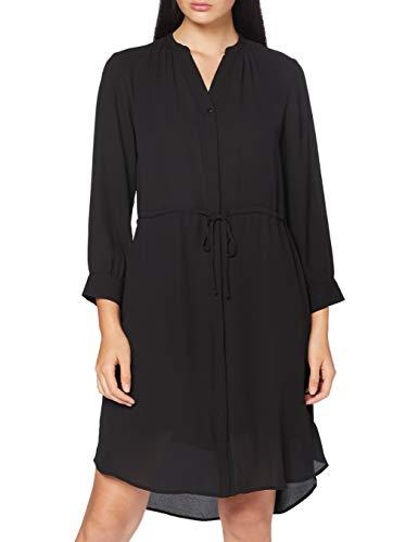 SELECTED FEMME Damen SFDAMINA 7/8 Dress NOOS Kleid, Schwarz (Black), 42