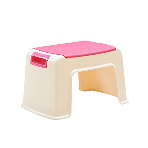Preisvergleich Produktbild G.F. Fußhocker Für Baby Kinder Ausbildung Waschen Hände Kunststoff Tragbare Kleinen Sitz Rutschfeste Bad Wohnzimmer Verwenden (Farbe : Rosa)