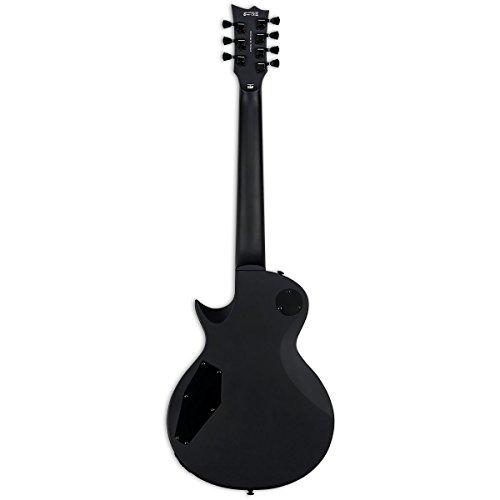 ESP LTD EC-257 7-String Electric Guitar, Black Satin