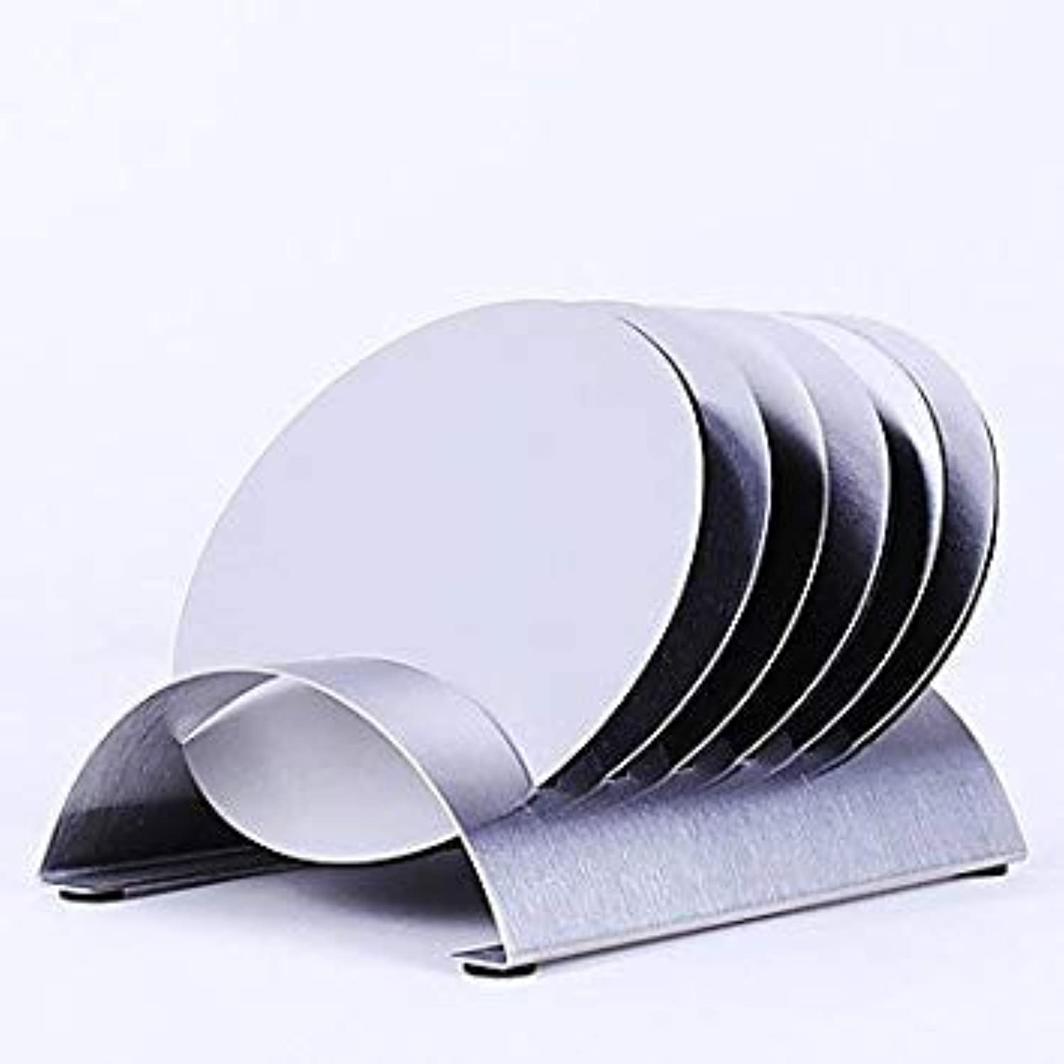 6Pcs lot Stainless Steel Coffee Cup Coasters Pad Holder Pot Bowls Round Insulated Heat Mat