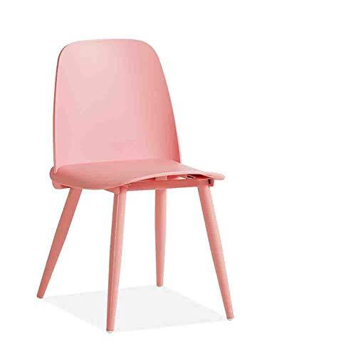 GRF Mode Nordic Essecke Kunststoffstuhl Gro?e Sitzplatte Anti-Kollision Abgerundetes Design Und rutschfeste Matten Angepasst An Das Restaurant Café Klassenzimmer Im Freien