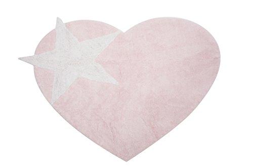 Aratextil. Tapis pour enfant 100% coton lavable en machine à laver Collection berbère Peace rose 120 x 160 cm