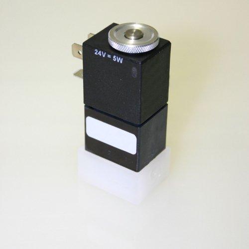 Thomafluid 3/2-Wege-Magnetventil aus PVDF, Nennweite: 1,6 mm, Anschluss-Spannung: 12= Volt, Werkstoff Dichtung: FFKM