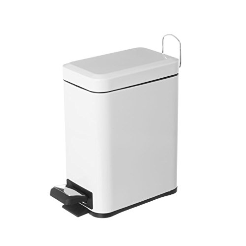 Dcasa - Papelera de baño de metal blanca nórdica para cuarto de baño Fantasy