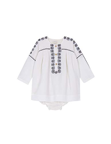 Gocco Vestido Cuello Caja Bordado Crudo Dress, 43991 para Bebés