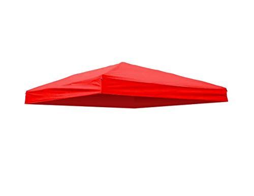 Trademark Innovations Square Replacement Canopy Gazebo Top for 10' Slant Leg Canopy - 8' x 8' - (Burnt Orange)
