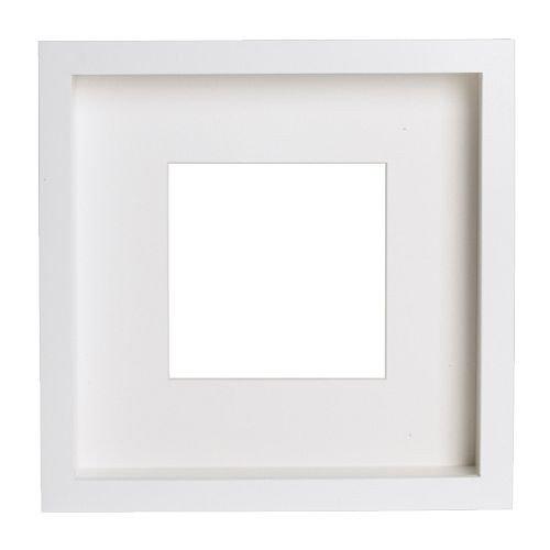 IKEA Ribba Rahmen Weiß, Innenmaß 23x23x4,5cm, Aussenmaß 25x25cm Holzfaserplatte Folie