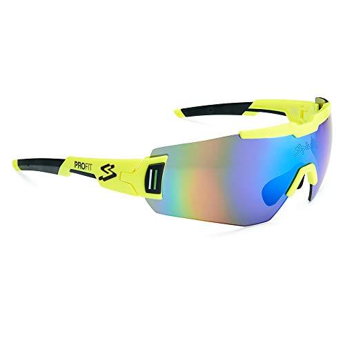 Spiuk Sportline Gafas Ciclismo Profit, Adultos Unisex, Amarillo Fluor, Unico