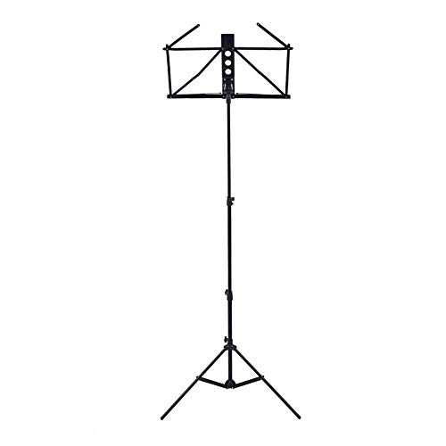 FGDSA Music Stand Sheet Music Stand Tripod Base Height Angle Adjustable Violin Orchestral Conductor Travel Metal Sheet Stand Suitable Laptop Stand (Color : White, Size : 43x145cm)