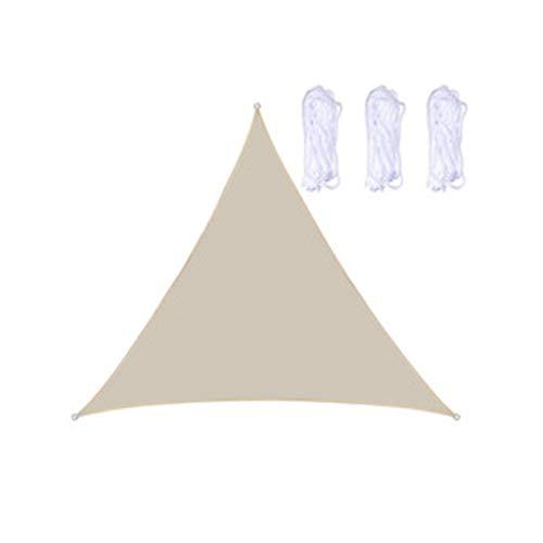 2X2X2m Triángulo De Velas De Sombra, Triángulo De Vela De Sombra Solar Impermeable, Sombras De Sol Jardín, Sombra De Vela De Jardín(Color:C)