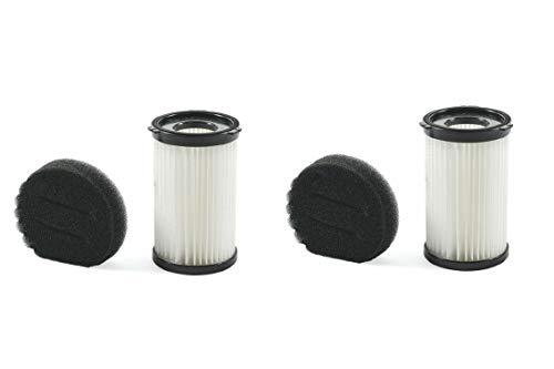 Kooper 2196261, Set 4 filtri Ricambio aspirapolvere Airone, Nero