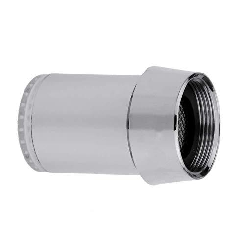 BBGSFDC Mini luz LED corriente de agua grifo grifo grifo de control de temperatura 3 colores cambiantes de la presión del cabezal de ducha