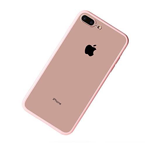 HSXQQL Handyhülle PC TPU klarer Kristallfall für iPhone XS maximales iPhone XR iPhone 7 8 6 5 s 5SE 6Plus 7Plus iPhone 8Plus Handy-Rückseiten-Abdeckungs-Stoßdämpfer, Rosa, für iPhone 7