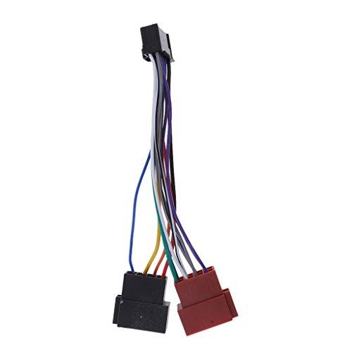 Auto Radio Adapter Kabel 16 PIN DIN ISO Buchse für die meisten Pioneer Car-Audio-Einheiten mit Down-Sicherung des ISO-Anschlusses.