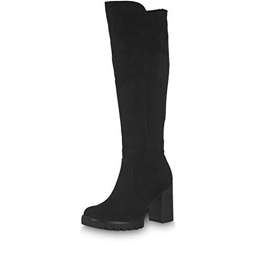 Tamaris Damen Stiefel 25590-23, Frauen KlassischeStiefel, Boots reißverschluss Damen Frauen weibliche Lady Ladies feminin Women,Black,36 EU / 3.5 UK