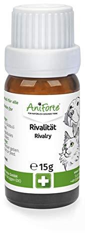 AniForte Rivalität Globuli für Hunde, Katzen, Haustiere - Bachblüten zur Beruhigung, Natürliches Mittel bei Rivalität gegenüber Artgenossen und Menschen