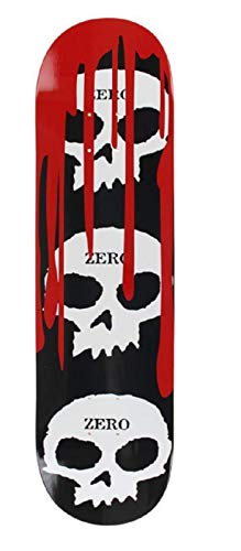 Zero Standard Skateboard Deck(3 Skull Blood, 8.0)