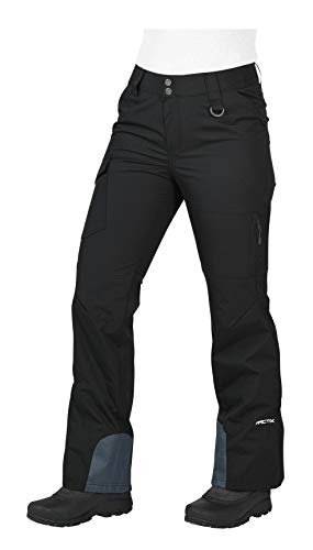 Arctix Women's Mountain Premium Mesh-Lined Snowboard Cargo Pants, Black, Large (12-14)
