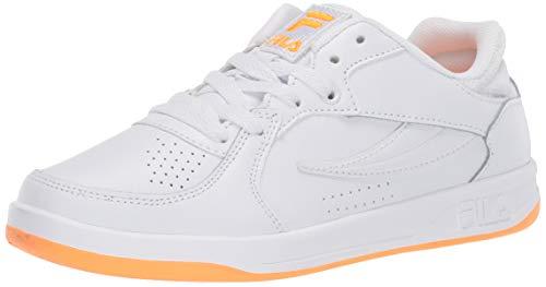 Fila Women's TN-83 Sneaker, WHT/WHT/OPOP, 8
