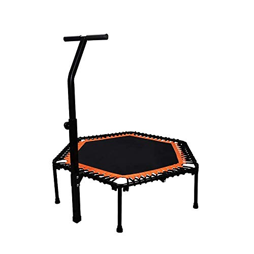 Rebounder Trampolines Sucker Leg Fitness Exercise Trampoline with Handle Bar 50' Foldable Rebounder Cardio Workout Training For Adults Or Kids Indoor And Outdoor Elasticity Weight Loss Exercise Equipm