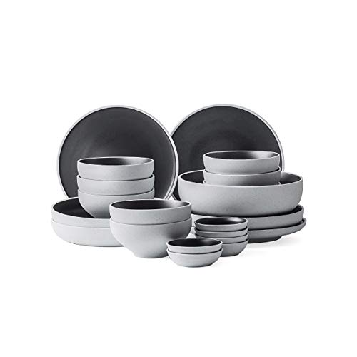 RKY Bol- Vaisselle japonaise, set de bols simples ménagers pour manger des bols style nordique - 3 combinaisons /-/ (taille : 21 pieces)