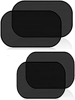 4-piece car sunshade, electrostatic adsorption sunshade on the side windows.size50x30x0.3cm(black)