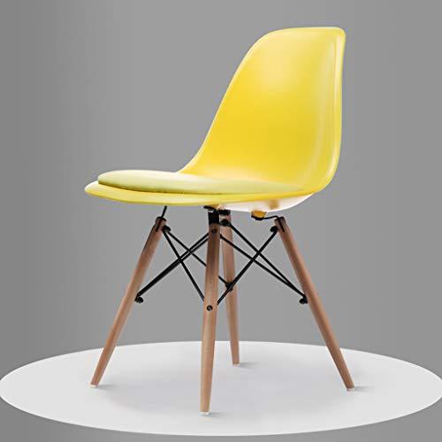 LRW eettafelstoel, wit, geel en Scandinavisch, minimalistisch, modern, wit huis