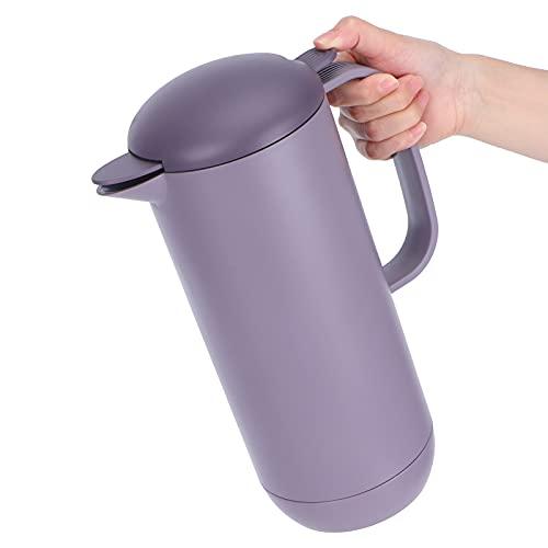 QiruIXinXi Jarra de café térmica, Jarra de Agua aislada de Gran Capacidad de 1 l con Paredes Dobles, hervidor de café térmico a Prueba de Fugas, para Oficina en casa(Púrpura)