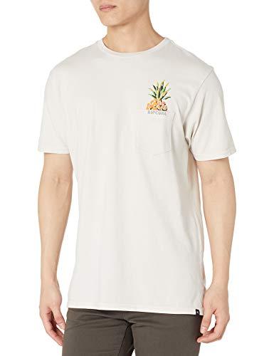 Rip Curl Herren PINA Colada Standard Issue Tee T-Shirt, Knochenfarben, Klein