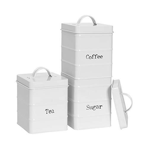 Harbour Housewares 3 Piezas de té café y azúcar de la Ven