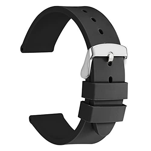 WOCCI 24mm Leggero Cinturino per Orologio in Silicone per Uomo e Donna,...