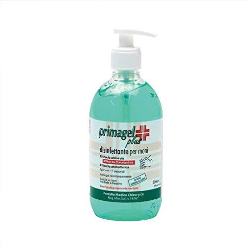 Gel Igienizzante Mani 65% Alcol PRIMAGEL PLUS 500ML Disinfettante