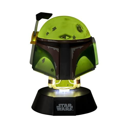 Paladone Star Wars Bobba Fett 3D Icon BDP | Carácter icónico Oficial de Disney Mandalorian | Empire Strikes Back | Luz Nocturna Brillante o lámpara de Escritorio, Verde