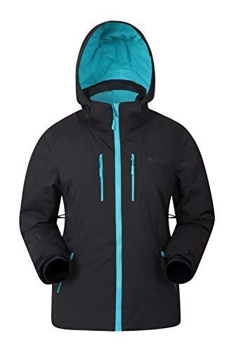 Mountain Warehouse Slopestyle Damen Extreme Skijacke - Isolierter Damenmantel, wasserdichter Regenmantel, warme, atmungsaktive Winterjacke - für Skiurlaub, Snowboarden Kohlenstoff 46